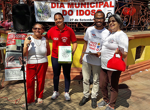 Interativa participa do Dia Municipal do Idoso.